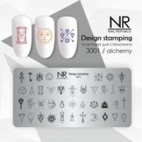 Пластина для стемпинга Alchemy №3001, NR