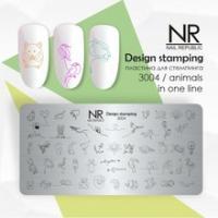 Пластина для стемпинга Animals in one line №3004, NR