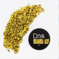 Глиттер-гель 03 Diva, 5мл