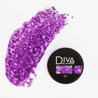 Глиттер-гель 07 Diva, 5мл