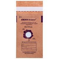 Крафт-пакеты коричневые, 100 шт, 60*100 мм