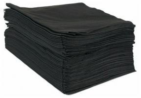 Салфетки и полотенца в сложении черные 45х90см, 50шт