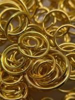Пирсинг ногтей 'Золотые колечки'