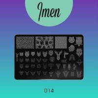 Пластина для стемпинга 14 Imen