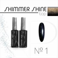Топ с шиммером Nartist Top Shimmer Shine №1, 6мл