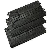 Маски медицинские, 3-х слойные черные, 50шт
