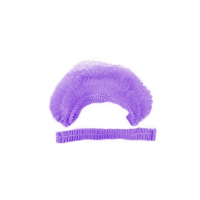 Шапочка одноразовая фиолетовая, 100шт