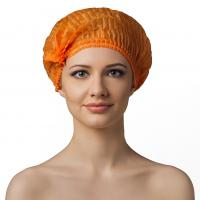 Шапочка одноразовая оранжевая, 100шт