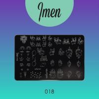 Пластина для стемпинга 18 Imen