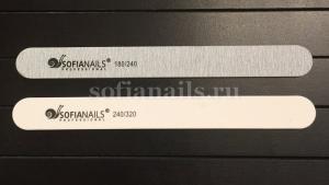 Пилка натуральные ногти (Корея) 180х240 прямая SofiaNails