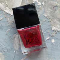 Лак для стемпинга TAKIDA 063 розово-красный перл хром, 10мл