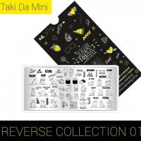 Пластина для стемпинга TAKIDA mini 01 Reverse Collection
